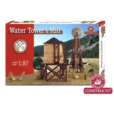 CONSTRUCTO Set water tow er + mill