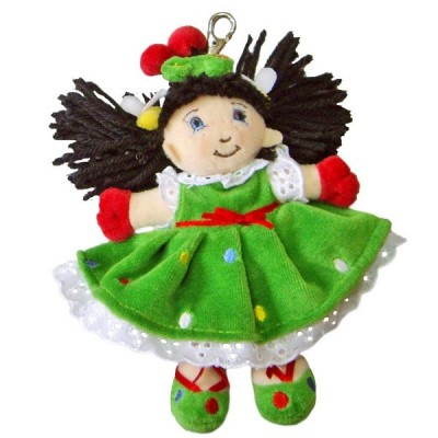 BEPPE Biedronka lalka 15 cmbrelok zielony