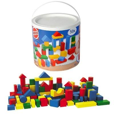 HEROS Drewniane Klocki B aby-Blocks, 50