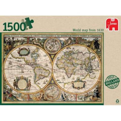 1500 EL Mapa świata z 1630