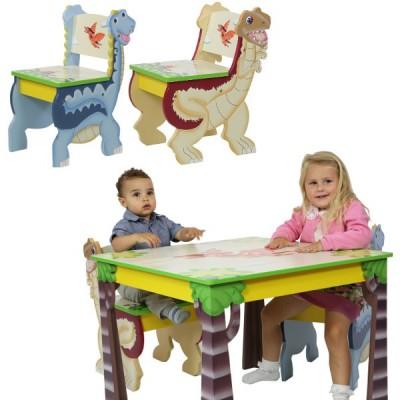 F.FIELDS Dinosaur Zest. krzesła i stolik